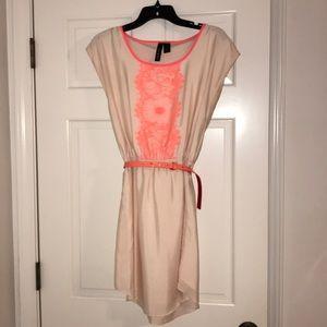 Salmon and blush dress. Size M